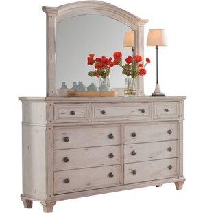 One Allium Way Dorinda 9 Drawer Dresser with Mirror