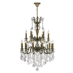 Astoria Grand Dodson Traditional 18-Light Candle Style Chandelier
