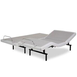 split queen adjustable bed   wayfair
