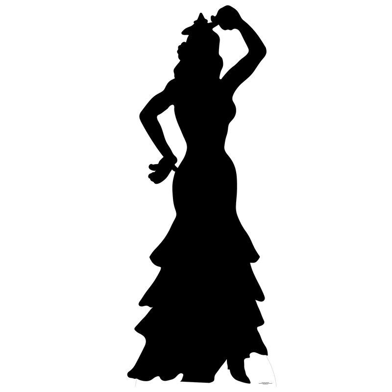 Star Cutouts Flamenco Dancer Silhouette Cardboard Standup Wayfair