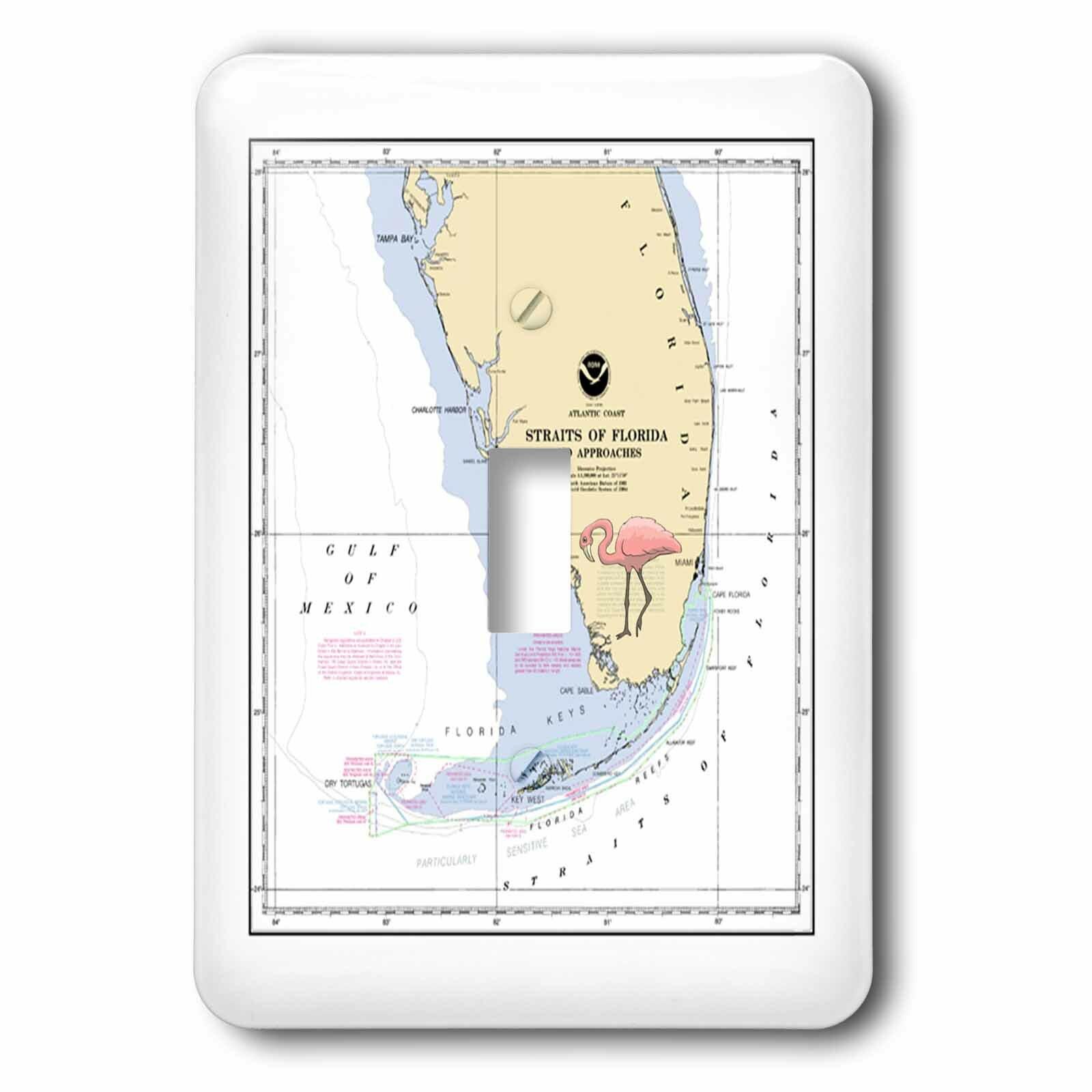 3drose Nautical Map Of South Florida 1 Gang Toggle Light Switch Wall Plate Wayfair