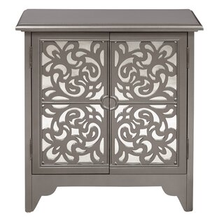 House of Hampton Brocklesby Mirrored Overlay 2 Door Accent Chest