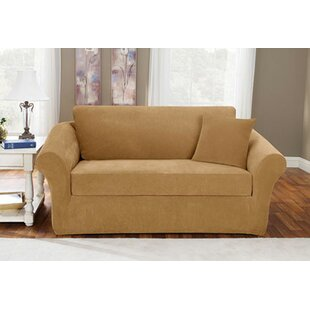 Sure Fit Stretch Pique T-Cushion Sofa Slipcover (Set of 2)