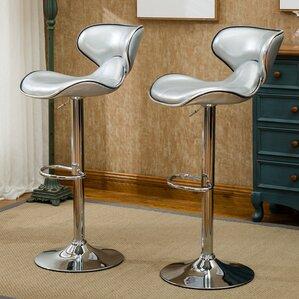 harlow adjustable height swivel bar stool set of 2