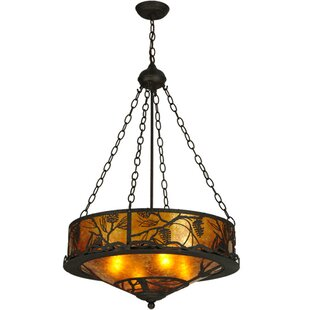 Meyda Tiffany Whispering Pines 4-Light Bowl Pendant