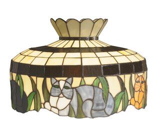 Four Cat 19.5 Novelty Lamp Shade By Meyda Tiffany