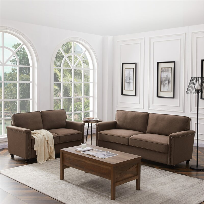 Alcott Hill Shriver 2 Piece Standard Configurable Living Room Set