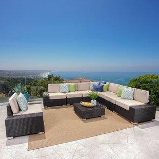 Hettie 9 Piece Sunbrella Sectional Set with Cushions by Orren Ellis