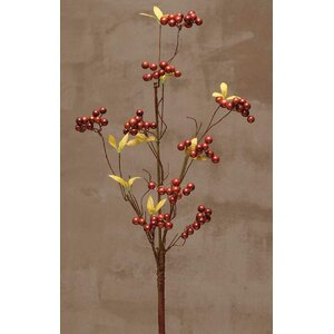 Decorative Twig Spray with Faux Berry Clusters