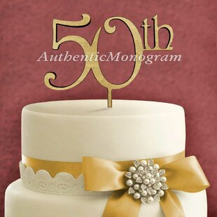 50Th Wooden Cake Topper