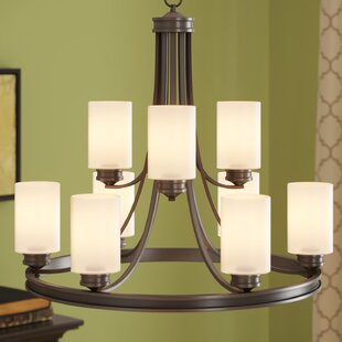 Best Price Russell Farm 9-Light Shaded Chandelier By Three Posts