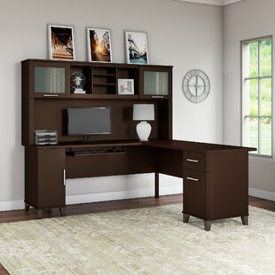 Kittle Somerset L-Shaped Executive Desk with Hutch by Latitude Run