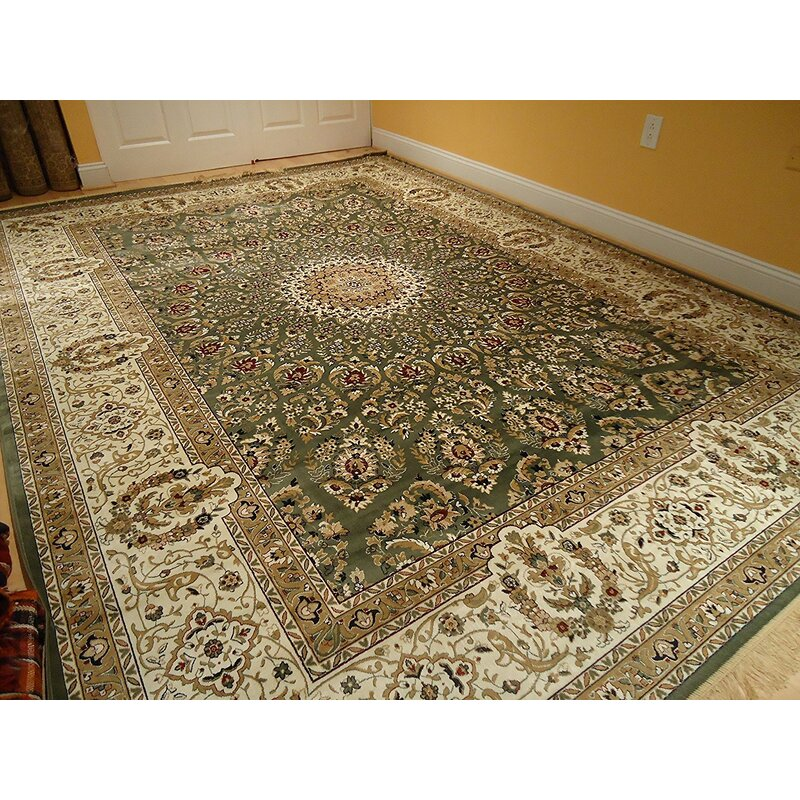 Astoria Grand Shanelle Living Room Hand Knotted Wool Green Beige Rug Reviews Wayfair Ca