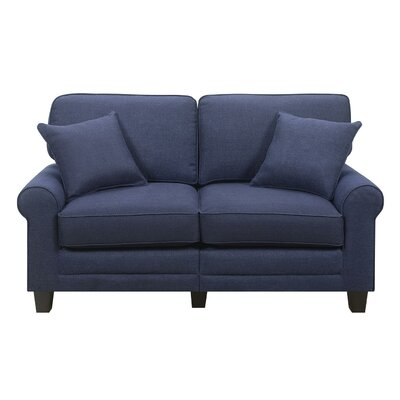 Buxton Loveseat Upholstery Color: Navy by Beachcrest Home