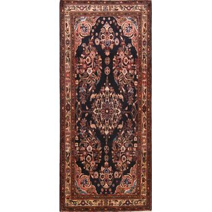 Price comparison One-of-a-Kind Lepore Animal Bird Pictorial Floral Hamedan Persian Hand-Knotted Runner 3'11 x 9'4 Wool Brown/Black Area Rug By Isabelline
