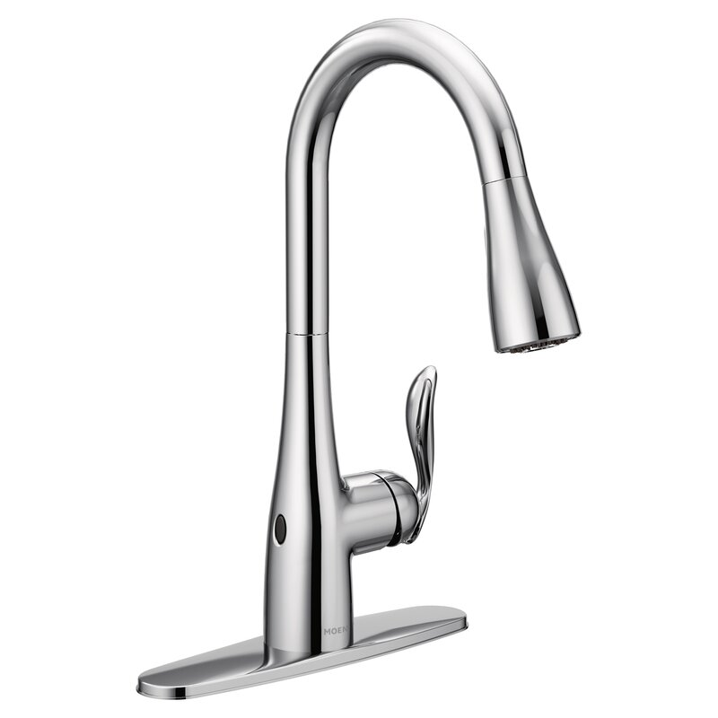 Moen Arbor Pull Down Touchless Single Handle Kitchen Faucet with ...