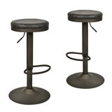Mielke Swivel Adjustable Height Bar Stool (Set of 2) by 17 Stories