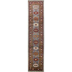 One Of A Kind Shealey Runner 2 8 X 12 Wool Red Light Blue Area Rug