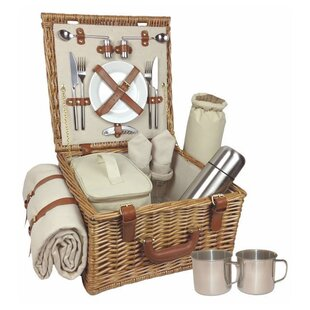 2 Person Traditional Fully Fitted Picnic Basket By August Grove