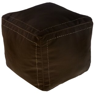 Mouassine Leather Pouf by ..