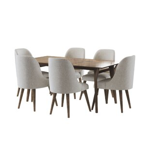 Ames Mid Century 7 Piece Dining Set