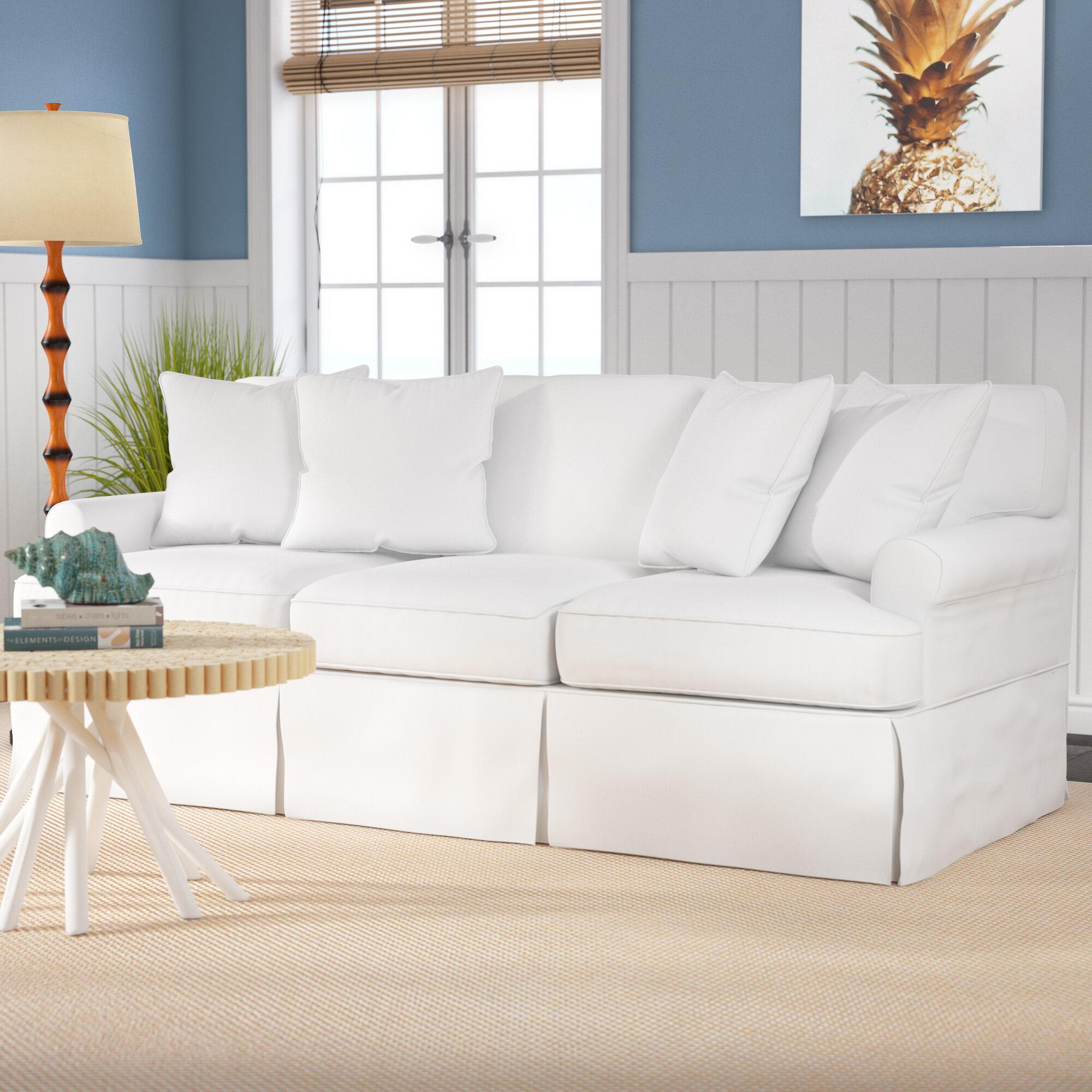 Beachcrest Home Coral Gables Slipcovered Sofa & Reviews | Wayfair