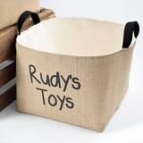 Personalized Fabric Storage Bin by A Southern Bucket