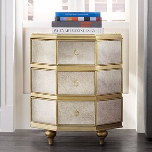 Cynthia Rowley Bewitch 3 Drawer Nightstand