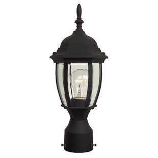 Oakhill 1 Light Outdoor Post Lantern with Bowl Glass Panels