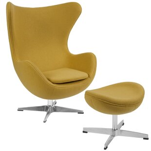 Brennen Swivel Lounge Chair and Ottoman by Langley Street