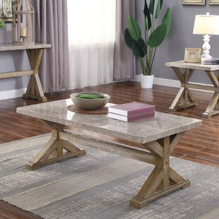 Gracie Oaks Record 3 Piece Coffee Table Set