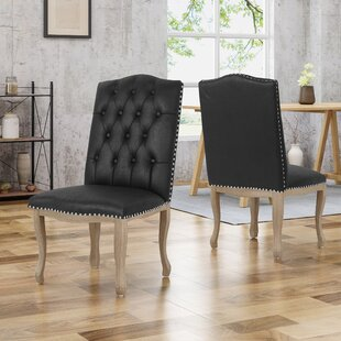 Arend Traditional Upholstered Dining Chair (Set of 2) House of Hampton