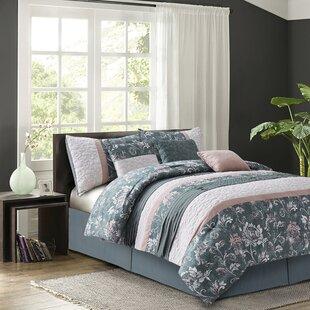 August Grove Beem Blush 7 Piece Reversible Comforter Set