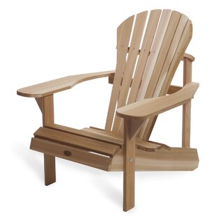 All Things Cedar Western Red Cedar Athena Solid Wood Adirondack Chair