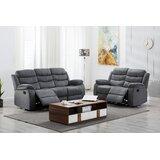 Angelyssa Gunny 2 Piece Reclining Living Room Set by Ebern Designs