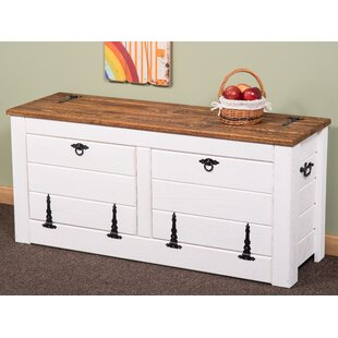 Wood Storage Bench By Longshore Tides