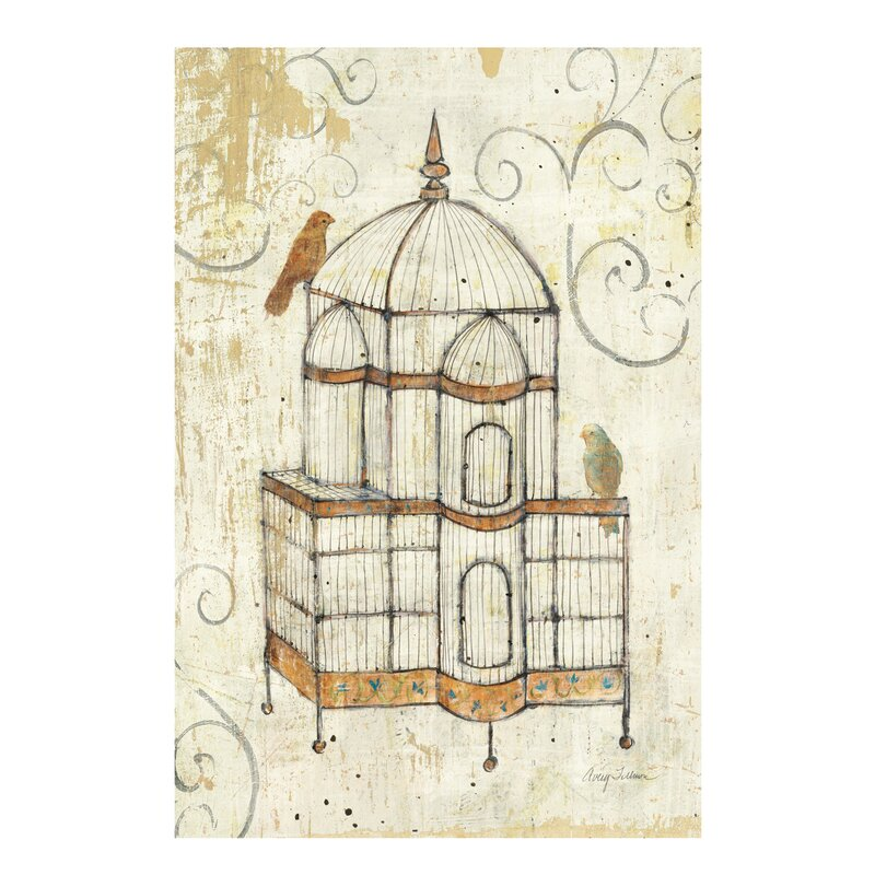 East Urban Home Bird Cage I Graphic Art On Wrapped Canvas Wayfair Co Uk