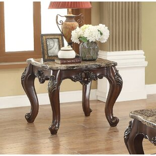 Rockmart Traditional High End Luxurious Scalloped End Table
