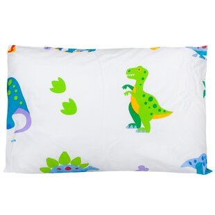 Dinosaurs Olive Kids Cotton Pillow Cover by Wildkin Discount