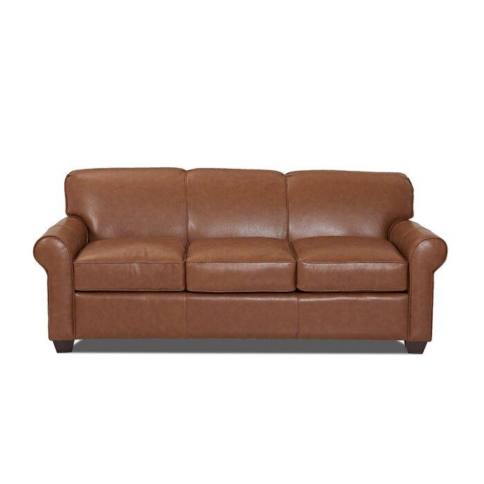 Astonishing Jennifer Genuine Leather Sofa Interior Design Ideas Clesiryabchikinfo