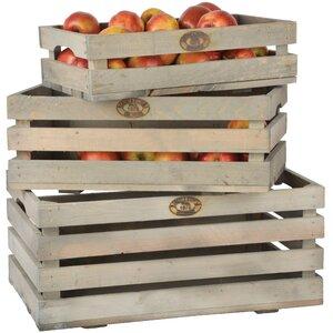 3-tlg. Obstkisten-Set Esscherts Garden aus Holz ..