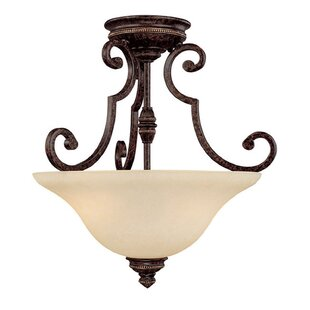 Byington 2-Light Semi Flush Mount by Fleur De Lis Living