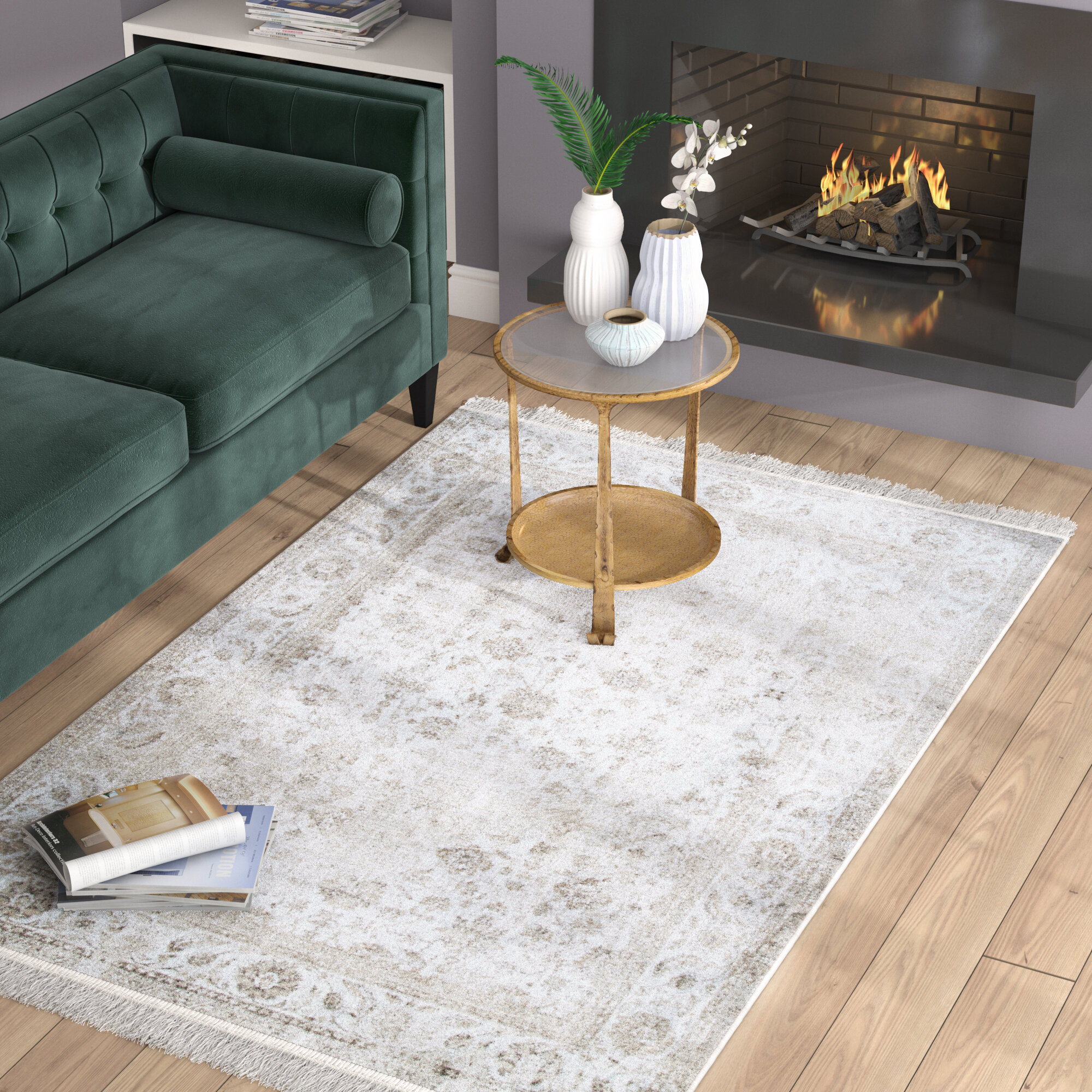 Centre Drive Ivory Area Rug