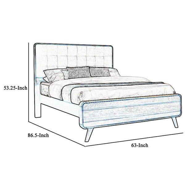 George Oliver Emmalyn Queen Tufted Solid Wood Platform Bed Wayfair