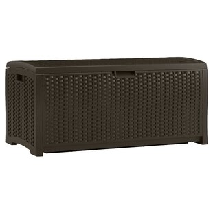 73 Gallon Resin Wicker Deck Box by Suncast