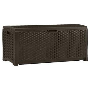 73 Gallon Resin Wicker Deck Box