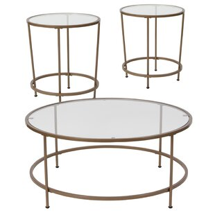Otis 3 Piece Coffee Table Set Ebern Designs