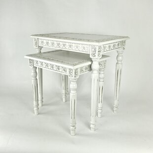 White wood nesting tables youll love wayfair save to idea board watchthetrailerfo