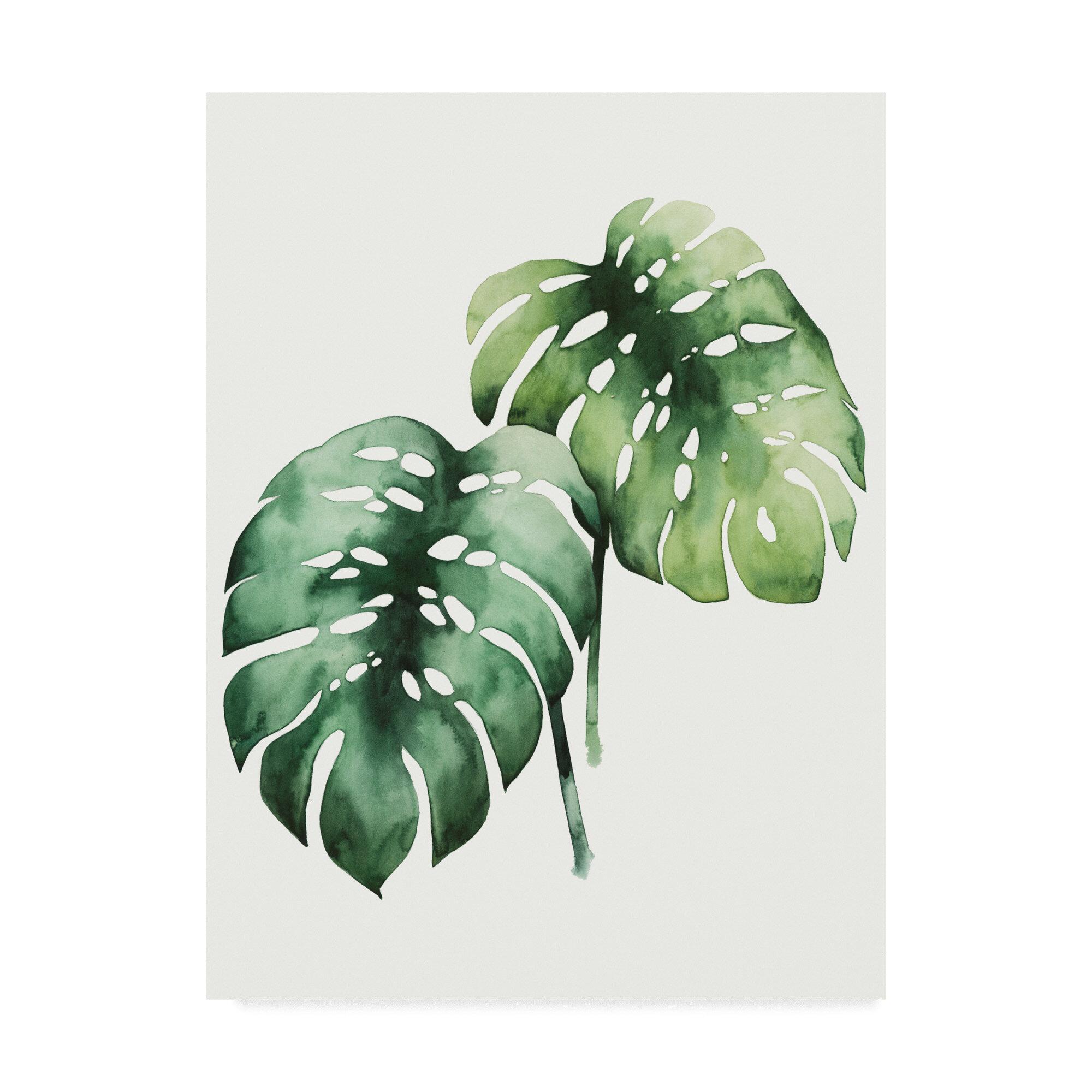 East Urban Home Tropical Plant I Acrylic Painting Print On Wrapped Canvas Wayfair