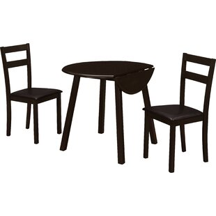 3 Piece Drop Leaf Dining Set Monarch Specialties Inc.